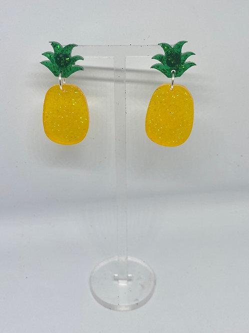 Prickly pineapple earrings
