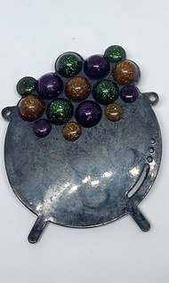 Witches brew large brooch