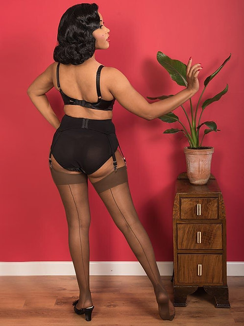SEAMED STOCKINGS GLAMOUR COFFEE H2014