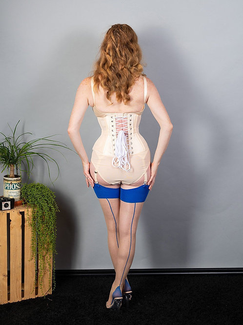 SEAMED STOCKINGS BLUE GLAMOUR H2036