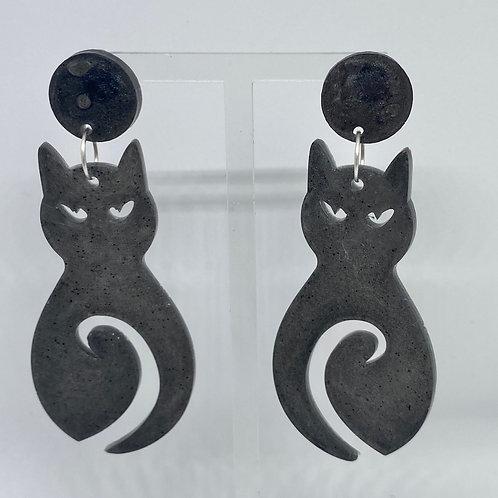 Mystic cat earrings