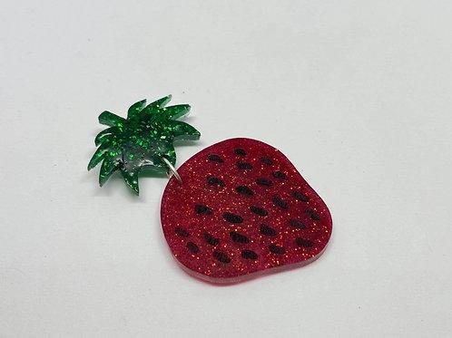 Succulent Strawberry Brooch
