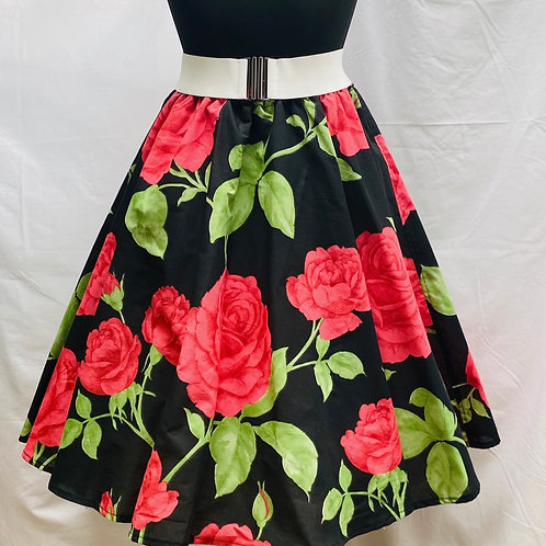 Deborah Red Rose Skirt