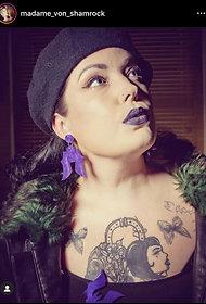 Beautiful bat earrings
