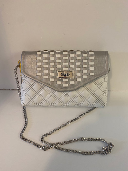 Hebe's garden white and silver bag