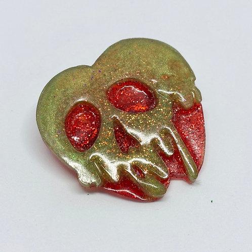 Toxic apple brooch