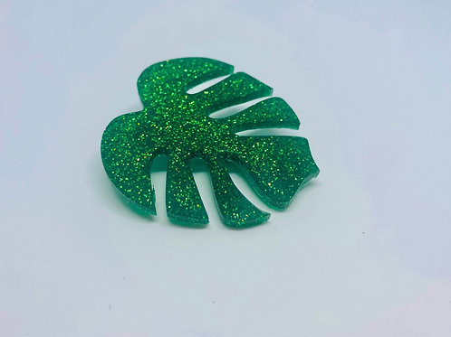 Monstrea Leaf Brooch