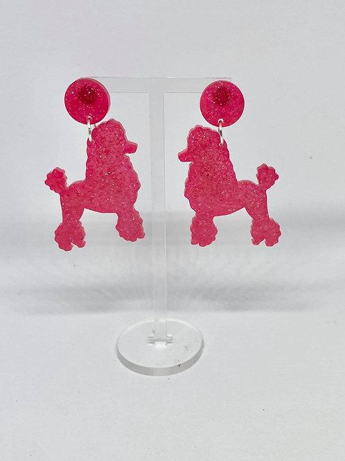 Powderpuff Poodle Earrings