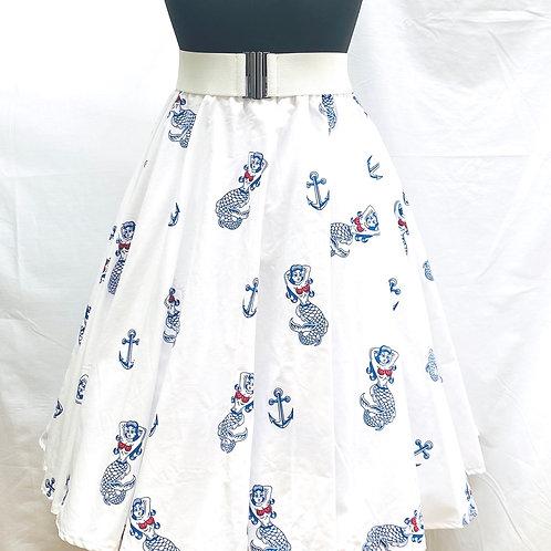 Deborah Limited Edition Ahoy  Mermaid Skirt white