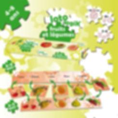 jeu de société éducatif amix lotologik fruits et légumes