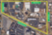Neighborhood aerial with street sign bou