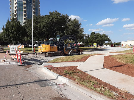 Sidewalk installation, Oct. 23, 2019 [20