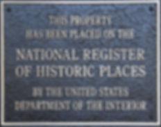 Historic Places National Register Plaque