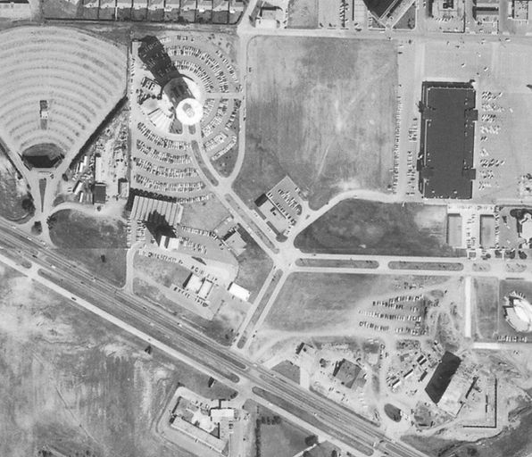 Aerial view, early 1960s [Okie Mod Squad