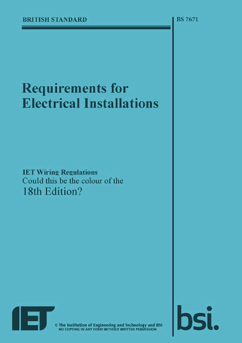 18th edition wiring regulations News