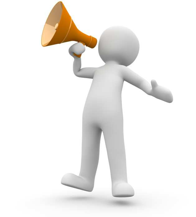 18th Edition Wiring Regulations have your say. man with megaphone