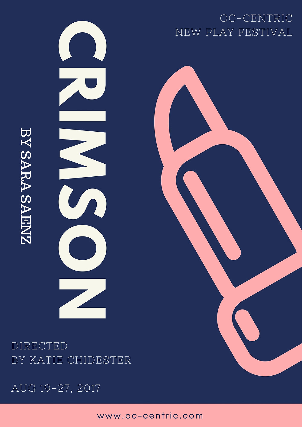 Crimson by Sara Saenz will premier at OC-Centric New Play Festival August 2017