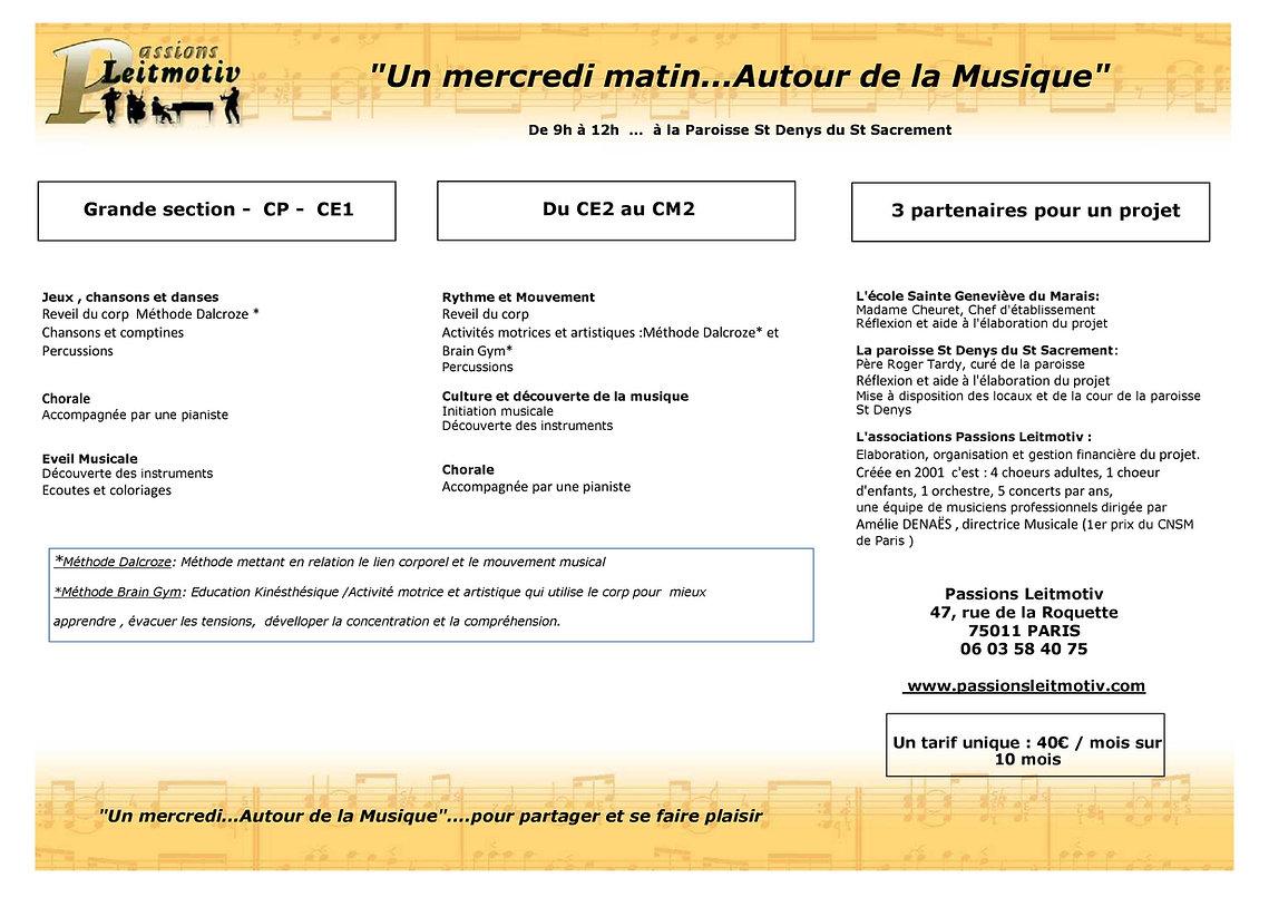 Musique enfant Marais 75003 75004