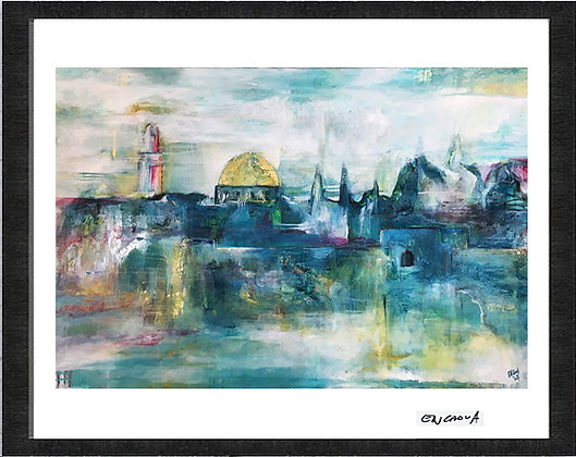Jerusalem in Blue - Hand Signed Limited Print
