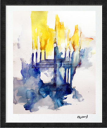Menorah 2 - Hand Signed Limited Edition Print