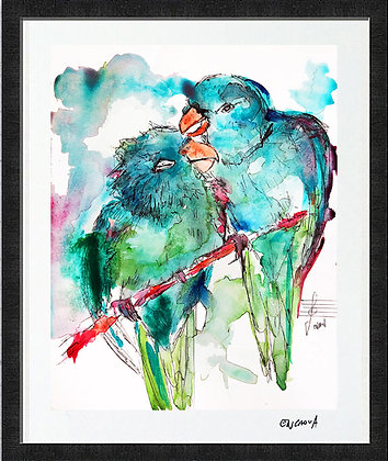 LoveBirds - Hand Signed Limited Edition Print
