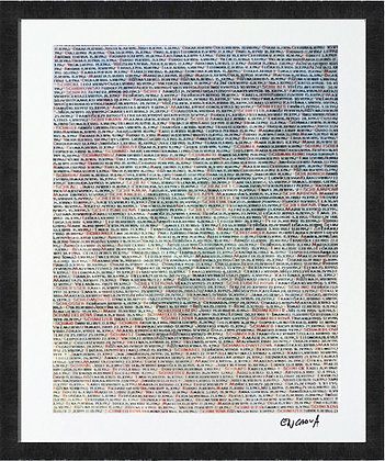 Names - Hand Signed Limited Edition Print