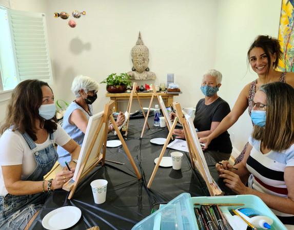 Painting Workshop with Sandra Encaoua
