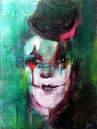 MASK - Oil painting on canvas by Sandra Encaoua