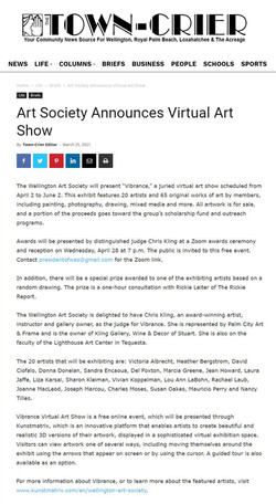 Art Society announces Virtual Art Show