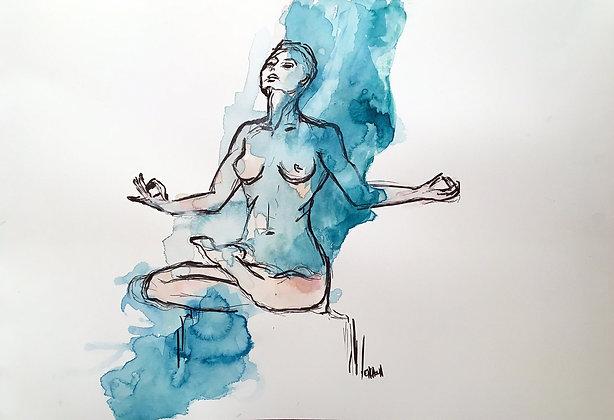 Zenitude - Watercolor by Sandra ENCAOUA