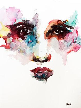 Hinda - Watercolor by Sandra ENCAOUA