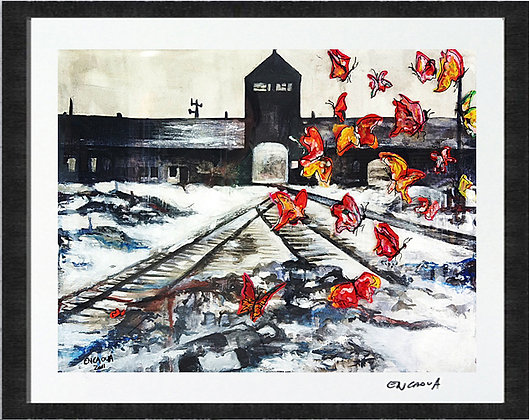 Auschwitz's butterflies - Hand Signed Edit Print