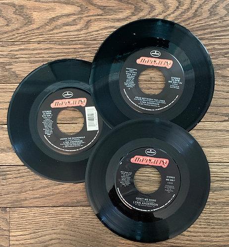 SET OF 3 Vinyl 45s Mercury Lynn Anderson