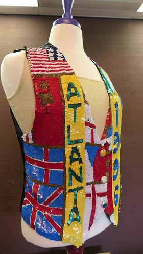 ATLANTA Sequin Vest in honor of the 1996 Olympics