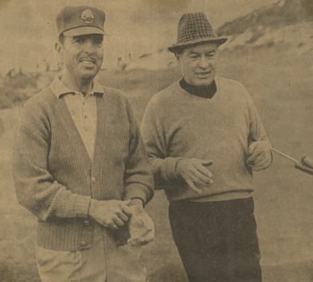 On the back nine at Pebble Beach with Bob Hope