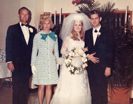 Lynn and Glenn on their wedding day -- with Casey and Liz