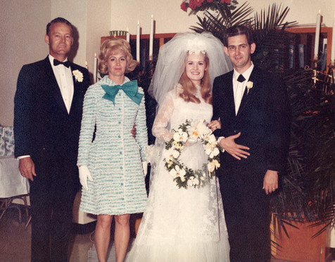 Lynn and Glenn on their wedding day -- with Casey and Liz