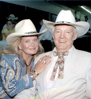 Lynn and Casey at Fan Fair in Nashville - 1999