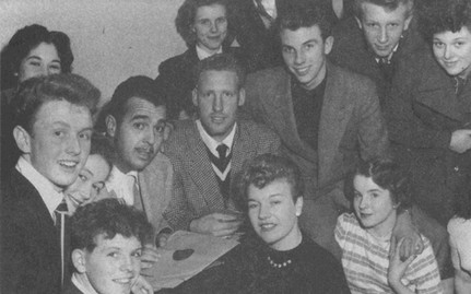 Backstage with fans at the London Palladium - 1953