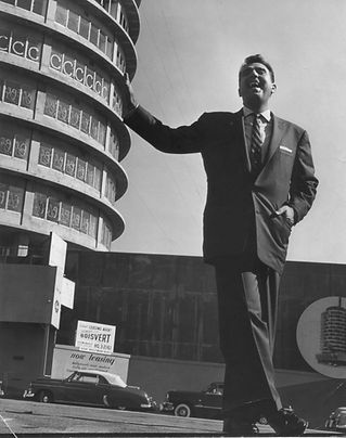 At the unfinished Capitol Records Tower