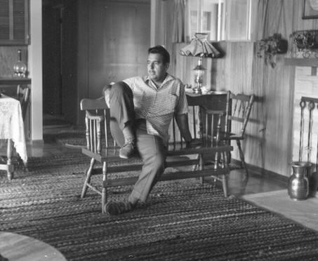 In the den in Whittier - 1955