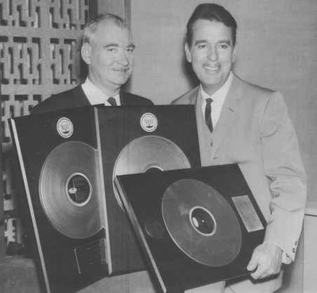 With Capitol's Lee Gillette with two Gold and one Platinum