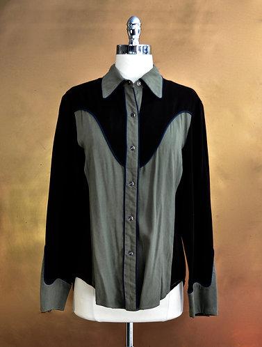 SCULLY worn by Lynn Anderson ~ Sage & Brown sz M