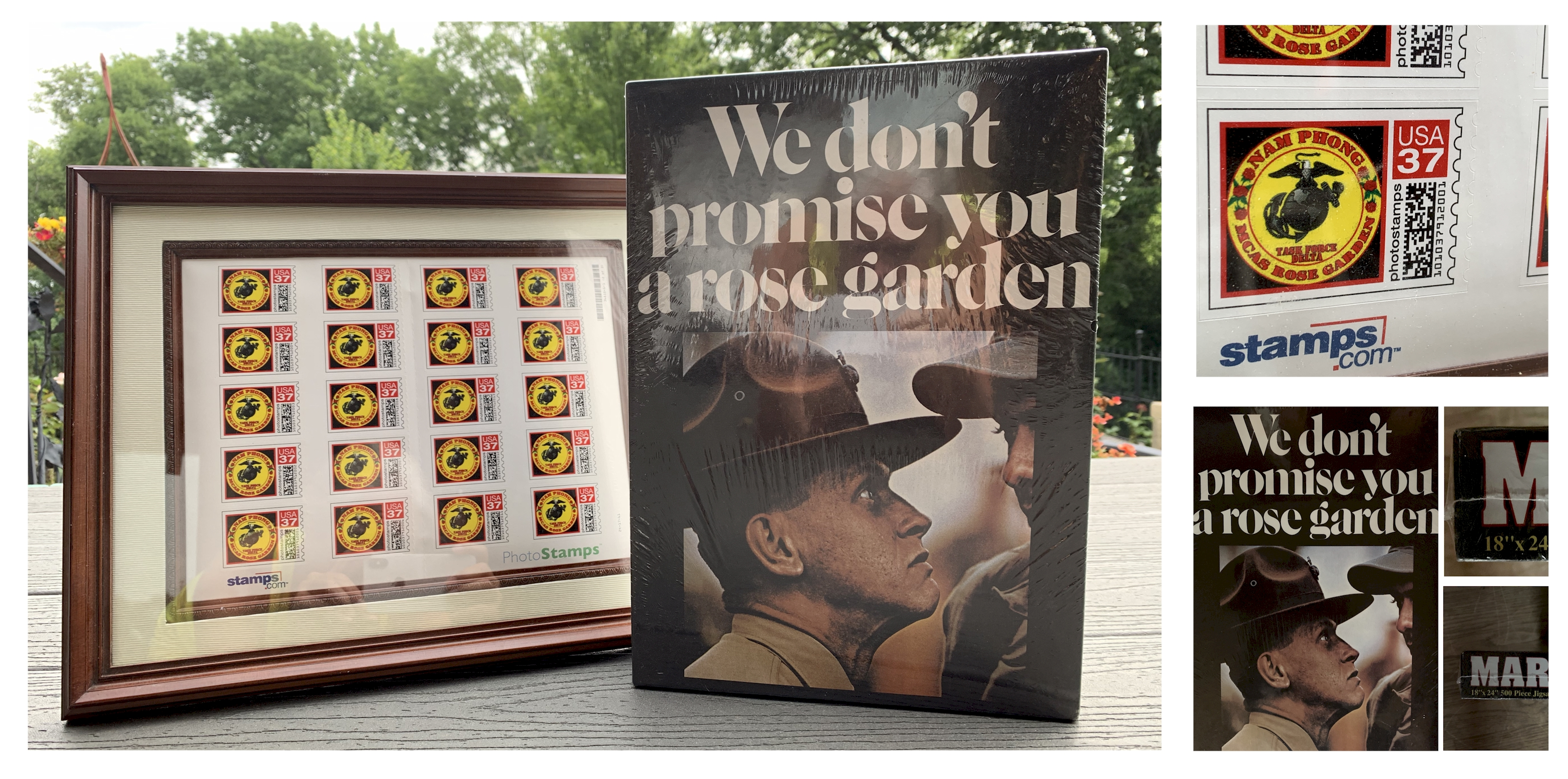 Rose Garden Marines Stamp and Puzzle Set