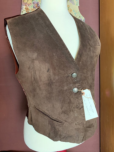 Brown Leather Vest ~ American Classic