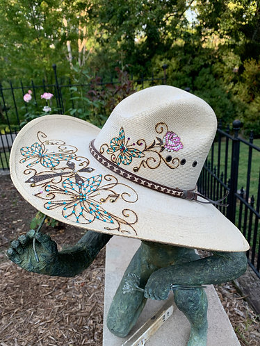 Iconic Lone Star Hatters Custom Straw Cowgirl Hat