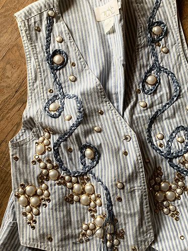 80s Pearl Vest worn by Lynn Anderson