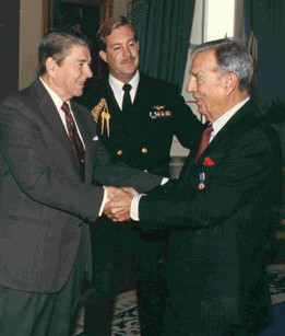 Receiving The Presidential Medal of Freedom from President Ronald Reagan