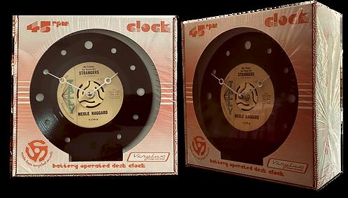 """Strangers"" Vintage Vinyl 45 Clock"