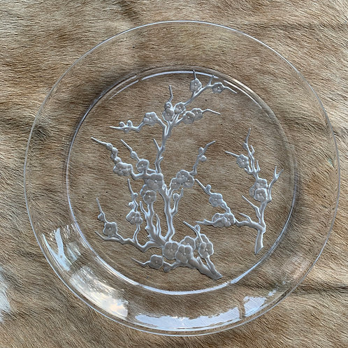 Thick Glass Etched Trinket Plate